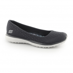 Skechers MICROBURST - ONE UP Ladies Woven Slip on Pumps Charcoal