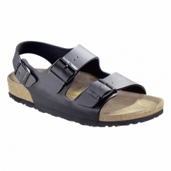 MILANO Mens Duo Buckle Sandals Black