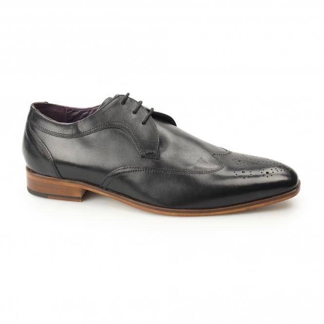 3ad50e5a2ebc Gucinari MILLE Mens Leather Smart Derby Shoes Brogues Black
