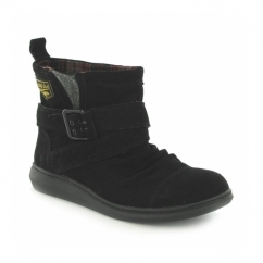 MINT Ladies Suede Boots Black