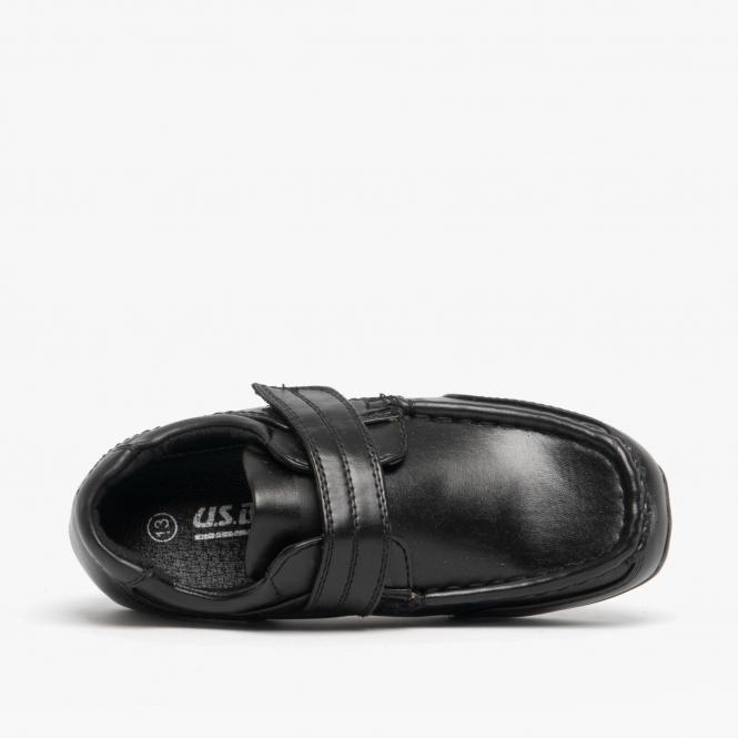 Med Mirak Boys Charlie Touch Fastening Back To School Smart Shoe Black