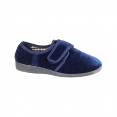 GARY Mens Full Slippers Navy