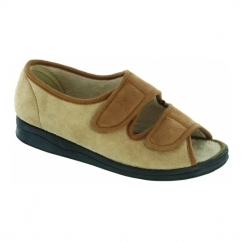 LOUISE Ladies Full Slippers Beige