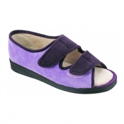 LOUISE Ladies Full Slippers Purple