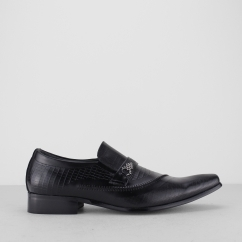 EDUARDO Mens Smart Pointed Shoes Black