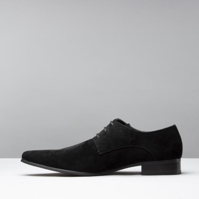 77038bd1d5175 EREDITA Mens Plain Pointed Faux Suede Shoes Black