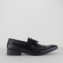 GIUSEPPE Mens Brogue Loafers Black