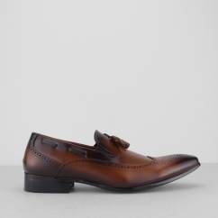 GIUSEPPE Mens Brogue Loafers Tan