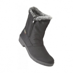 BIANCO Zip Snow Boots Black