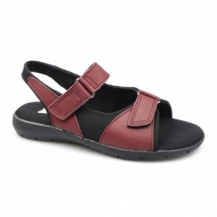 MOIRA FLEX Ladies Velcro Sandals Red