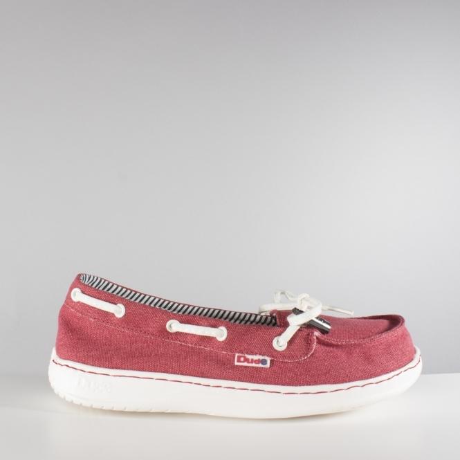 f7dd145768f MOKA CLASSIC Ladies Canvas Shoes Red