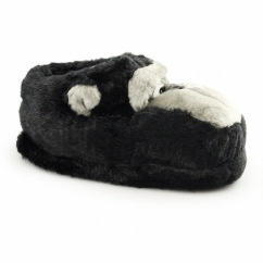 MONKEY Mens Novelty Animal Slippers Black