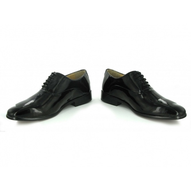 Montecatini Mens Patent Leather Formal Evening Wear Oxford Shoes Black