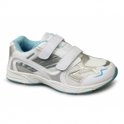 MOON Ladies Velcro Gym Running Trainers White/Blue