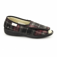MORAG Ladies Full Slippers Burgundy
