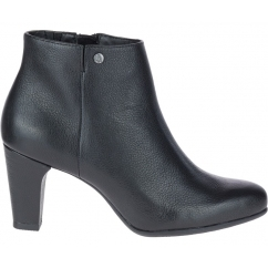 Hush Puppies MORNING MEAGHAN Ladies Leather Heeled Boots Black