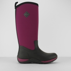 ARCTIC ADVENTURE Ladies Wellington Boots Black/Maroon
