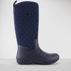 Muck Boots ARCTIC ADVENTURE Ladies Wellington Boots Navy Quilt
