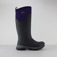 Muck Boots ARCTIC ICE TALL Ladies Wellington Boot Black/Purple | Shuperb