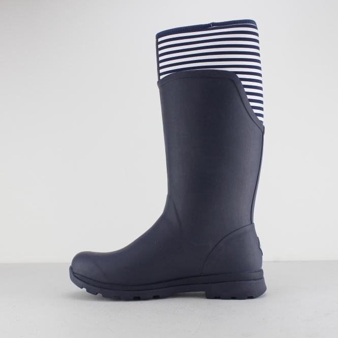 e17a34c1925fc Muck Boots CAMBRIDGE Ladies Rubber Wellington Boots Navy/ White Stripe