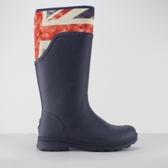 CAMBRIDGE Ladies Tall Wellington Boots Navy/ Vintage Union Jack