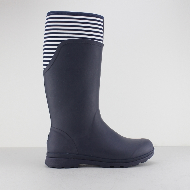 Muck Boots CAMBRIDGE Ladies Tall Wellington Boots Navy/White Stripe