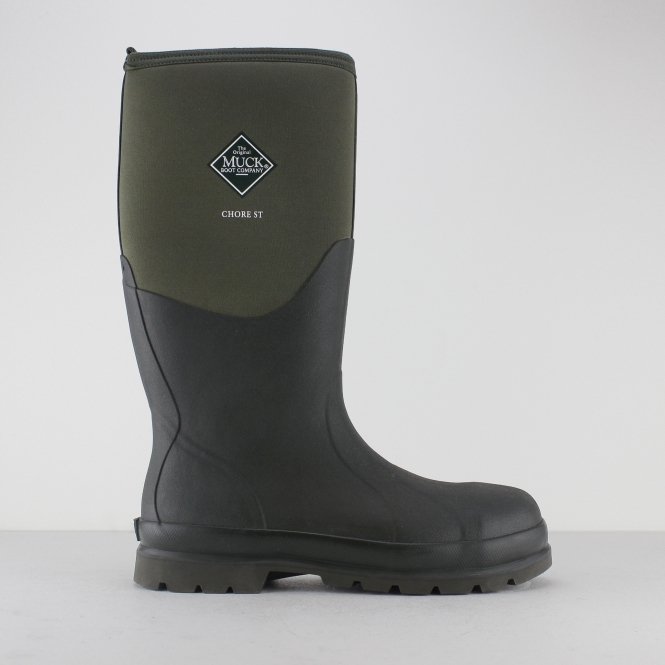 Muck Boots CHORE CLASSIC SAFETY Unisex Steel Toe Wellington Boots Moss