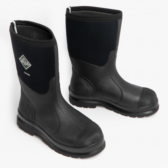 cde6c837297 CHORE MID Unisex Rubber Wellington Boots Black