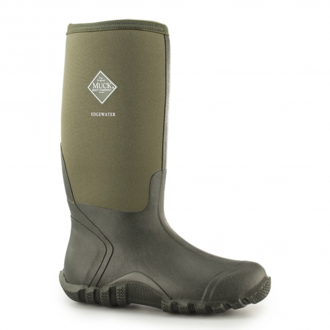 EDGEWATER HI Unisex Waterproof Wellington Boots Moss