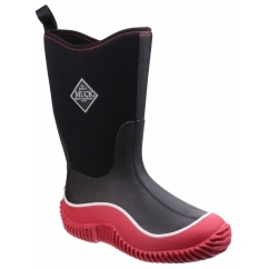Muck Boots HALE Kids Waterproof Wellington Boots Black/Red | Shuperb