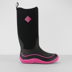 Muck Boots HALE Ladies Waterproof Wellingtons Black/Hot Pink
