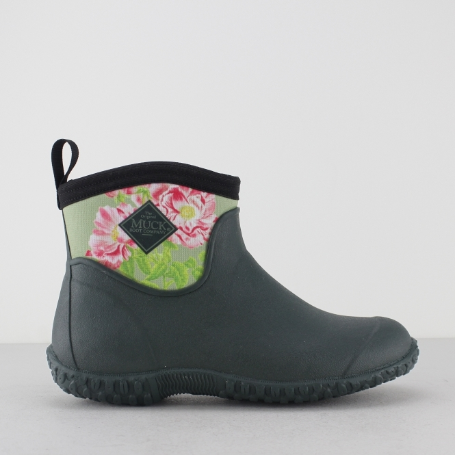 Muck Boots MUCKSTER II ANKLE RHS Ladies Ankle Boots Green/ Rose-Gallica