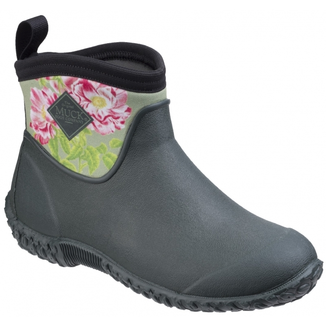91559cc68cdad Muck Boots MUCKSTER II ANKLE RHS Ladies Boots Green/Rosa Gallica | Shuperb
