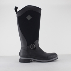 REIGN TALL EQUESTRIAN Ladies Wellington Boots Black/Gunmetal