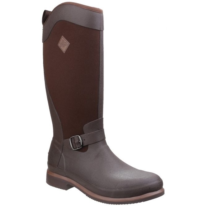 Muck Boots REIGN TALL EQUESTRIAN Ladies Wellington Boots Chocolate/Bison