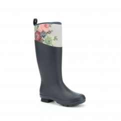 Muck Boots TREMONT RHS PRINT Ladies Wellingtons Navy/Rose | Shuperb