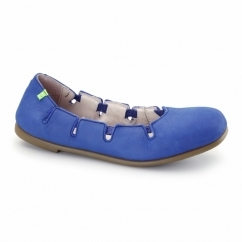 N961 Ladies Leather Flat Shoes Antique Bluing