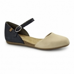 ND54 Ladies Leather Sandals Black/Nature