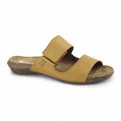 ND75 Ladies Leather Velcro Sandals Carrot