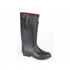 NEOPRENE Gusset Unisex Buckle Wellington Boots Black