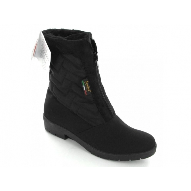 Mod Comfys NEVES Ladies Warm Lined Snow Boots Black