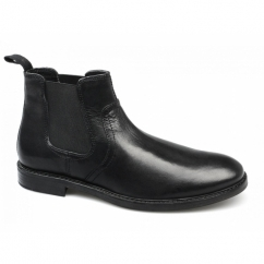NEWTON Mens Leather Chelsea Boots Black