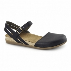 NF41 Ladies Leather Halterback Sandals Black