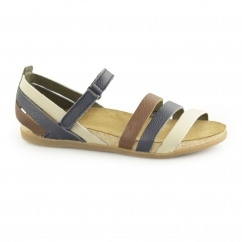 NF42 Ladies Leather Velcro Sandals Ocean/Mixed