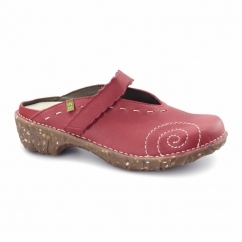 NG96 Ladies Leather Clog Shoes Grosella