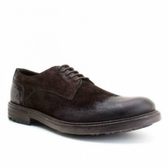 NITROGEN Mens Casual Derby Shoes Greasy Suede Brown