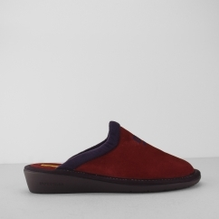 238 (AFELPADO) Ladies Mule Slippers Ruby