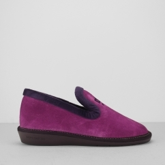 305 (AFELPADO) Ladies Full Slippers Orquideas Pink