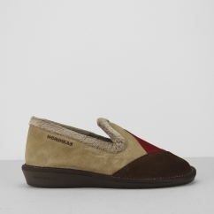Nordikas 4508 (AFELPADO) Ladies Suede Slippers Brown
