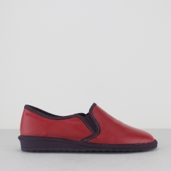 8151 (OHIO) Ladies Suede Full Slipper Rojo